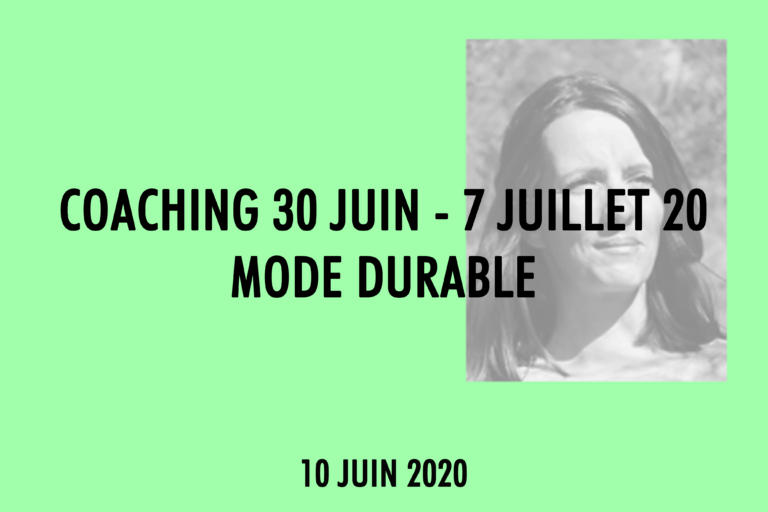 Coaching Mode Durable Elodie Traclet Maisons de Mode