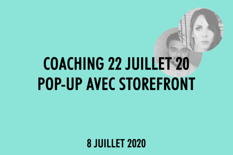 Coaching Pop Up Storefront