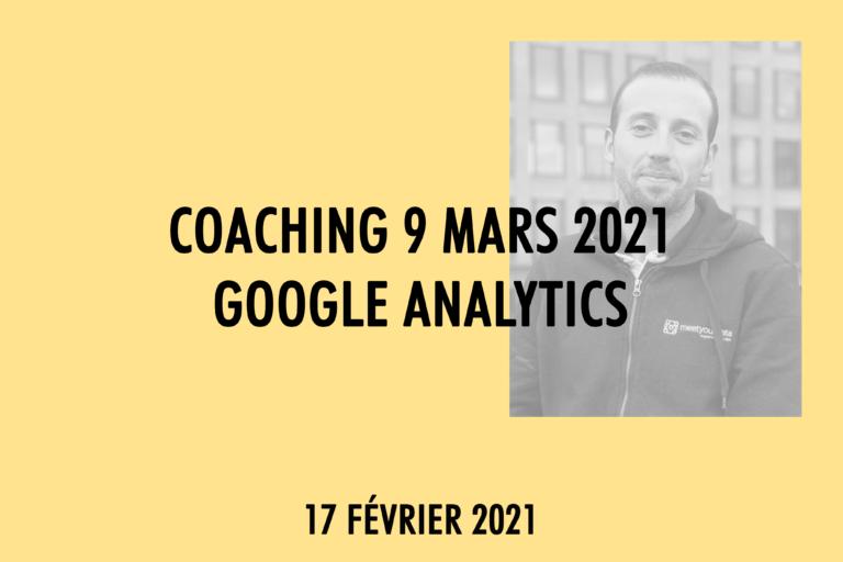 Coaching Google Analytics Maisons de Mode